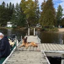 Don and Tess on the dock