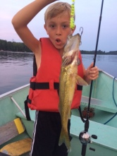 Owen and his catch